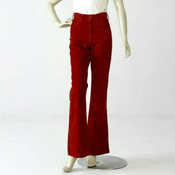 Nwt Red Jeans Bell Chord Flare Levi's Rise High rO7xwrqR8P